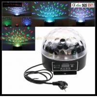 China Newest Most Popular Cheap Auto Full Color 6x3W LED Crystal Magic Ball Stage Light For Disco Club on sale