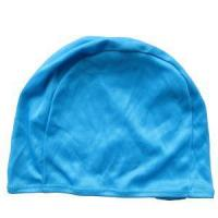 China Adult Lightweight Polyester Fabric Monochrome Color Swim Caps on sale