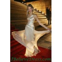 Buy cheap Gorgeous High Slit Hofi Golan White Sexy Prom Evening Dress Celebrity Red Carpet from wholesalers