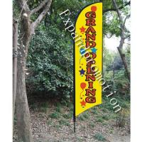 China ground opening feather flag banners cheap on sale