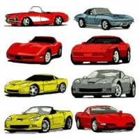 Buy Chevy Corvette Embroidery Design Discount Value Pack at wholesale prices