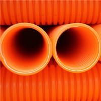 China PP single wall corrugated pipe for power cable protection on sale