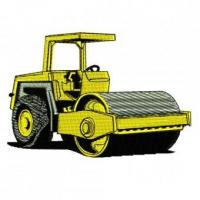 Buy cheap Construction Equipment Steamroller Embroidery Design from wholesalers