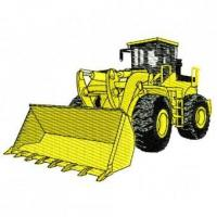 Buy cheap Construction Equipment Wheel Loader Embroidery Design from wholesalers