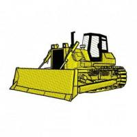 Buy cheap Construction Equipment Bulldozer Dozer Embroidery Design from wholesalers