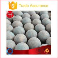 Buy cheap 130mm High Hardness 60mn Forged Steel Ball for Alumina Mine from wholesalers