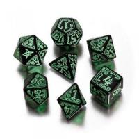 Quality Cthulhu Black-Green 7-Dice Set for sale