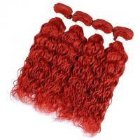 Buy cheap Vvwig Red Color Weave Hair 4 Bundles 100% Real Human Hair Water Wave Bundles No Chemical Processed from wholesalers