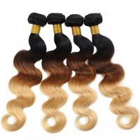 Buy cheap Ombre Color Weave Hair 4 Bundles Virgin Human Hair Extensions No Tangle Body Wave Bundles from wholesalers