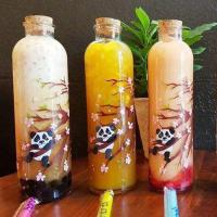 Buy cheap Bubbly tea boba glass bottle with cork from wholesalers