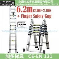Quality 6.2m 2 in 1 telescopic ladder with Finger Safety Gap for sale