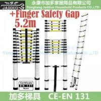 Quality 5.2m Single Telescopic ladder with Finger Safety Gap for sale