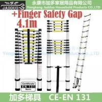 Quality 4.1m Single Telescopic ladder with Finger Safety Gap for sale