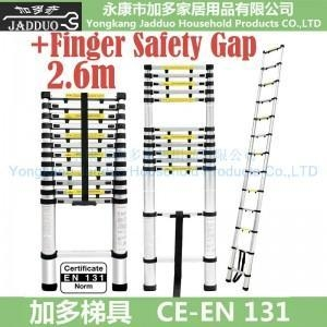 Buy 2.6m Single Telescopic ladder with Finger Safety Gap at wholesale prices