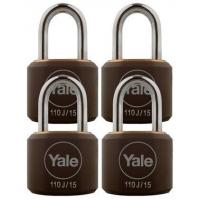 Buy cheap Y110J/15/111/4 - Yale Classic Series Indoor Black Cover Brass Padlock 15mm with Multi-pack from wholesalers