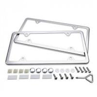 Buy cheap Ohuhu License Plate Frames, 2 Pcs 4 Holes Slim Stainless Steel Polish Mirror License Plate Frame from wholesalers