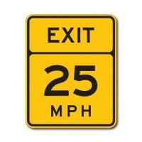 Quality Construction Signs W13-2 Advisory Exit Speed Limit (Variable) for sale