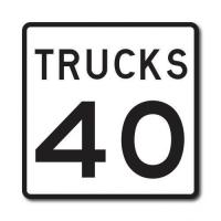 Quality Construction Signs R2-2P Truck Speed Limit for sale