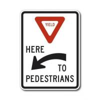 Quality Construction Signs R1-5A Yield Here to Pedestrians Here for sale