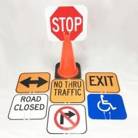 Quality Construction Signs Plastic Cone Signs for sale