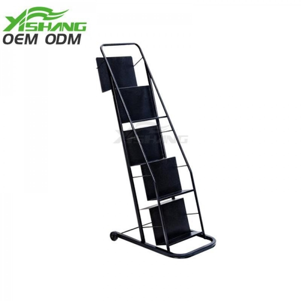 Buy 5 Tiers Metal Book Display Stand With Wheels YS-1900008 at wholesale prices