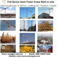 Buy Tower Crane Rent MC120B Tower Crane Lease Rent Hire at wholesale prices
