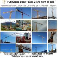 Buy Tower Crane Rent MD208 Tower Crane Lease Rent Hire at wholesale prices