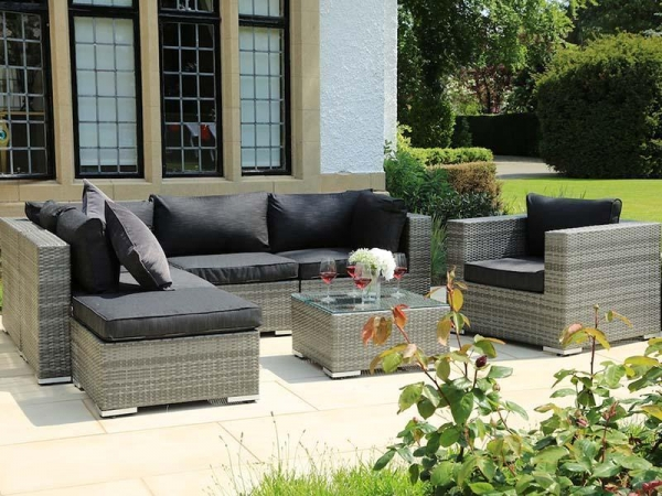 China Rattan style four seat sofa set lounge furniture for outdoor design