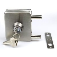 Buy cheap Wholesale Thickness door use 8-12mm Frameless Hardware sliding tempered glass door lock from wholesalers