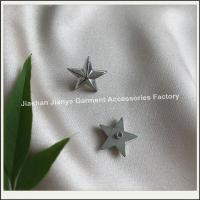 China Silver star rivets made by clothing accessories manufacturers on sale