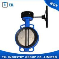 Quality Resilient Seat Butterfly Valve With Worm Gear for sale