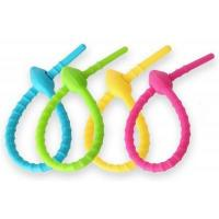 Buy cheap Colorful All-Purpose Silicone smart tie, Bag Clip, Bread Tie, Original Gear Ties, Food Saver from wholesalers