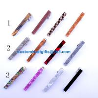 Quality 2.3cm 2.5cm 4cm 5.1cm 5.4cm brass tie bar with acrylic design for sale
