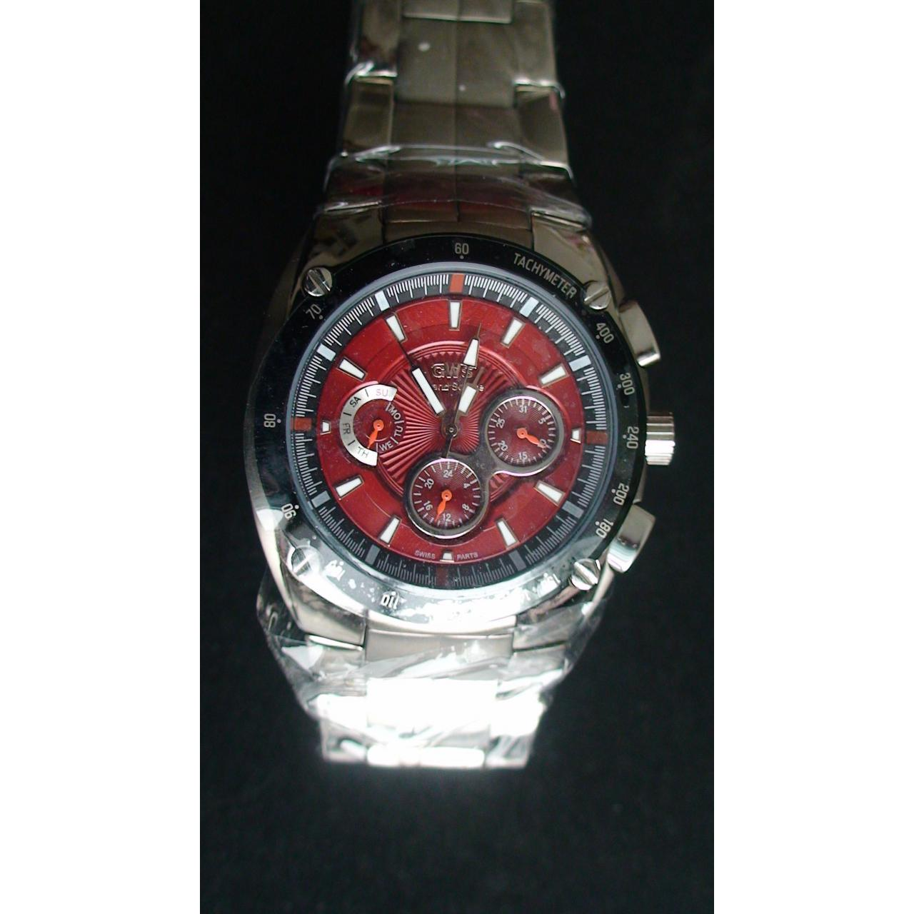 HY840 Titanium watch in red 412