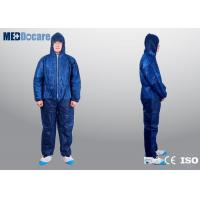 Mens lightweight coveralls navy blue color single use non toxic and non irritating