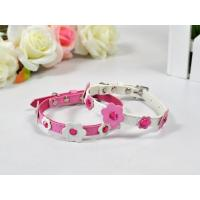 Leash and Collars Leather diamonds&flowers /C