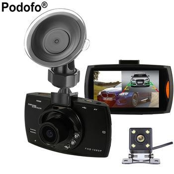 Buy 2017 New Podofo Two lens Car DVR Dual Camera G30 1080P Video Recorder at wholesale prices