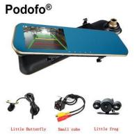 Quality Podofo Dual Lens Car Camera Dash Cam Auto Video Recorder With 4.3 Inch Rear for sale