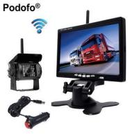 "Quality Podofo 12V 24V Wireless 7"" HD TFT LCD Vehicle Backup Rear View Camera Monitor + Car Charger for sale"