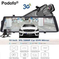 "Quality Podofo Car DVRs 10"" Touch IPS Android 5.0 GPS Navigators FHD 1080P Wifi 3G Video for sale"