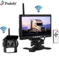 "Quality Podofo Wireless Truck Vehicle Car Rear View Backup Camera 7"" HD Monitor IR Night for sale"