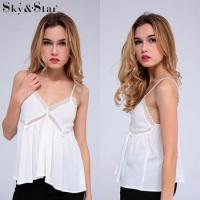 Buy cheap Latest white spaghetti strap sexy fashion blouse from wholesalers