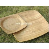 Quality Bamboo crafts The bamboo large and small fruit plate for sale