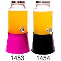 Buy cheap Drink Glassware Use 5 Liter Glass Water Bottles With Colored Ice Bucket from wholesalers
