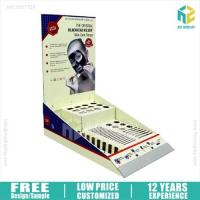 Quality Cardboard Floor Display Facial mask promotion cardboard counter display for sale