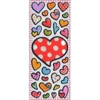 Quality Children's & Baby's Gifts Heart Puffy Stickers for sale